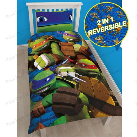 ninja turtle beds teenage mutant ninja turtles bedding single duvet cover