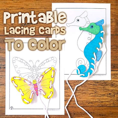 printable animal lacing cards cute animal printable lacing cards to color woo jr