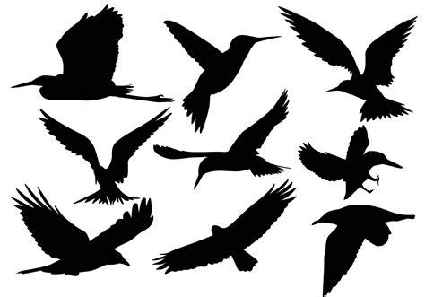 silhouette vector flying bird silhouette vectors download free vector art
