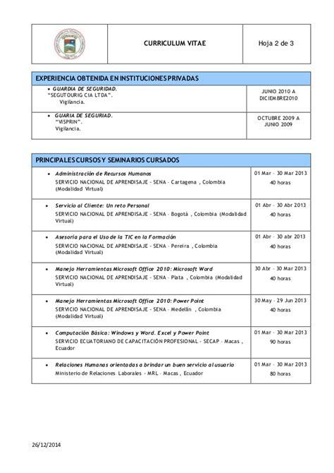 Modelo De Curriculum Vitae Actualizado 2012 En Word Modelo Cv Lisardo 2015