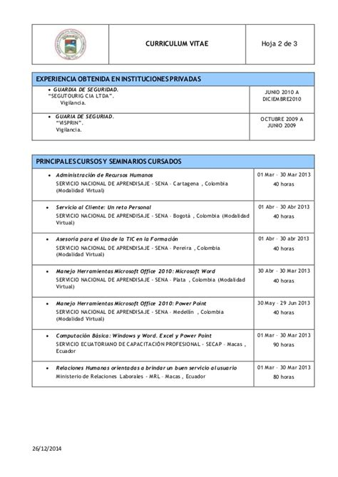 Modelo Curriculum Peru 2015 Formatos De Cv Gse Bookbinder Co