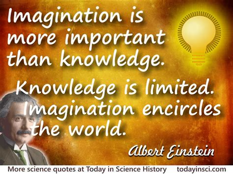 Of Science Essay Quotation by Albert Einstein Quote Imagination Is More Important Than Knowledge Large Image 800 X 600 Px