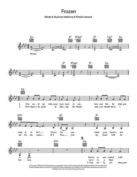 frozen madonna testo frozen chords by madonna melody line lyrics chords