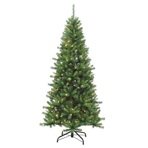 sterling 7 ft indoor pre lit led ozark pine artificial tree with 230 color changing