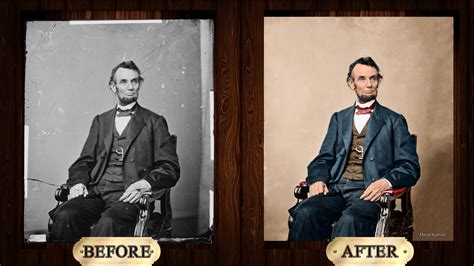 what color was abraham lincoln adobe photoshop cc abraham lincoln photo restoration