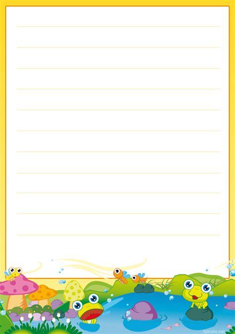 Modèles De Papier à Lettre Gratuit Papier 224 Lettres Les Grenouilles Tipirate