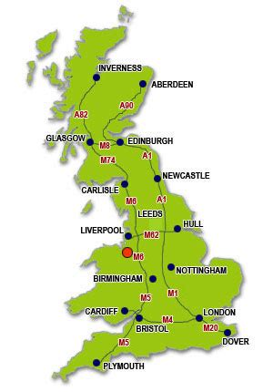 map uk chester movers and removals chester