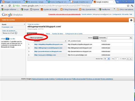 blog empresarial el blog empresarial como instalar google analytics en blogger