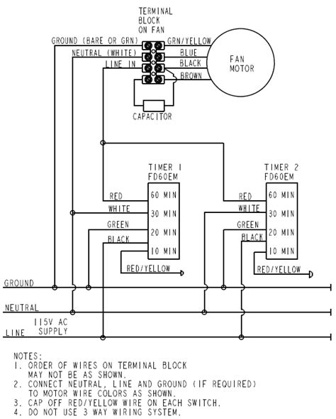 wiring diagram for timed bathroom fan wiring diagram manual