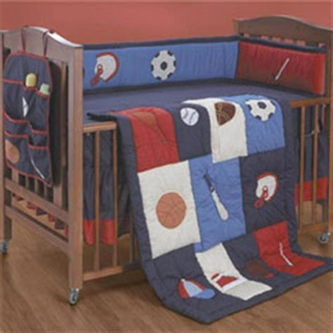 Sports Crib Bedding Sets For Boys Whats The Score Crib Bedding Set
