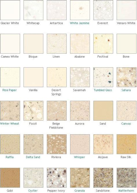countertop colors dupont corian countertop colors surface materials