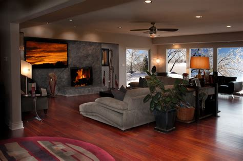 hardwood floor living room hardwood floors modern living room wichita by
