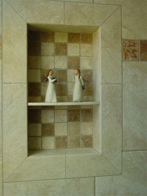 bathroom   build recessed shower shelf