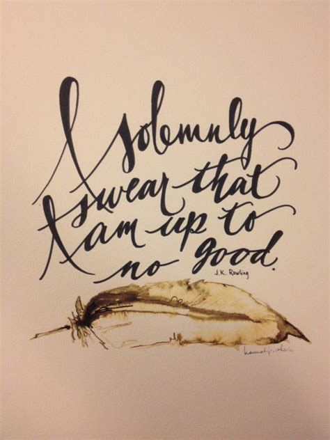 no good tattoo an quot i solemnly swear i am up to no quot print with