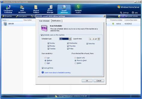 avast windows home server edition 6 0 screenshots