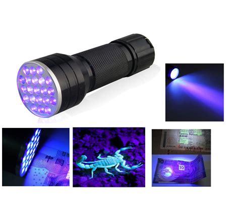 Led Uv 3aaa aluminium invisible blacklight ink marker 21led 21 led uv ultra violet flashlight torch
