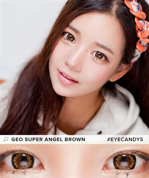 Geo Super Size Angel Brown Contacts Free Cute Contact | buy geo super angel brown colored contacts eyecandys
