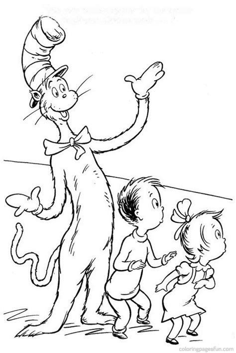 coloring pages cat and the hat seuss cat in the hat coloring pages coloring page cat