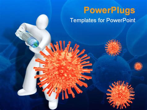 virus powerpoint template free powerpoint template white human with syringe injecting