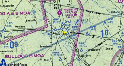 Atlanta Sectional Chart by Sectional Chart Of The Millen Airport