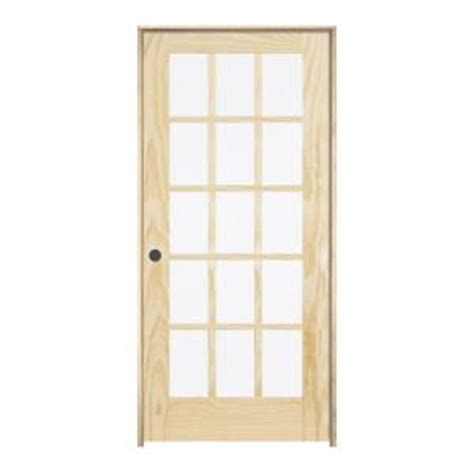 15 Lite Interior Door Jeld Wen 30 In X 80 In Pine Unfinished Right 15 Lite Wood Single Prehung Interior Door