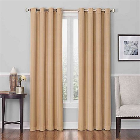 Gold Grommet Curtains Buy Insola Dorian Grommet Top 108 Inch Window Curtain Panel In Gold From Bed Bath Beyond