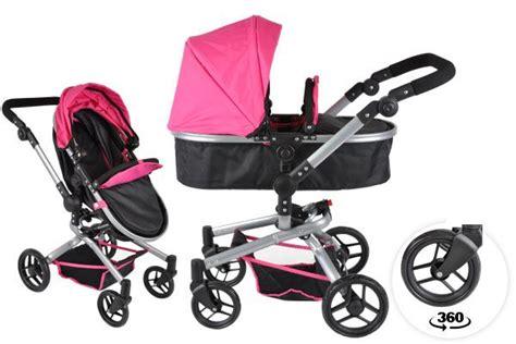 B1703 2in1 Black 1 bandits pink 2in1 poppenwagen nl