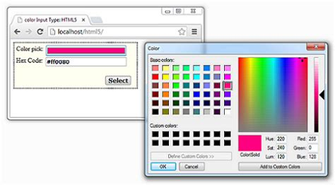 input type color color input type html5