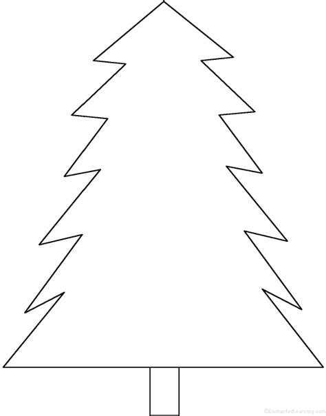 tree tracing cutting template enchantedlearning evergreen tree tracing cutting enchantedlearning