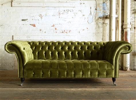 geneva green velvet 3 seater chesterfield sofa abode sofas