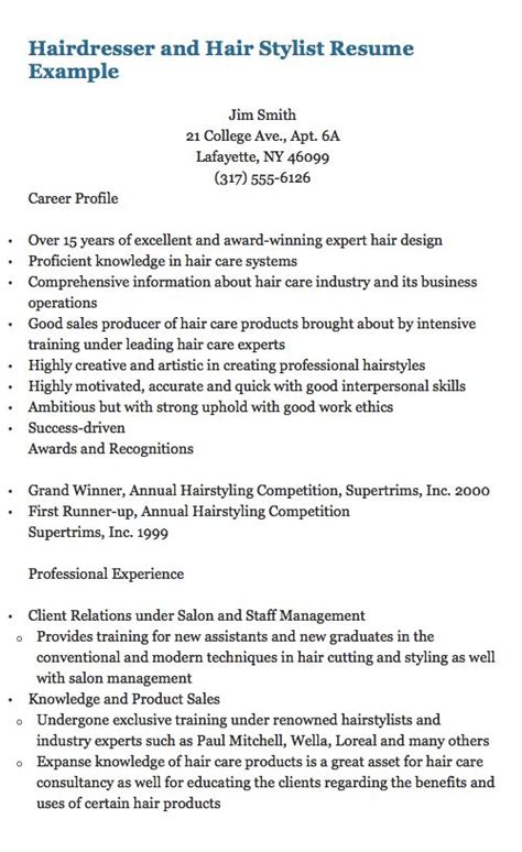 cv hair design 1895 best images about free resume sample on pinterest