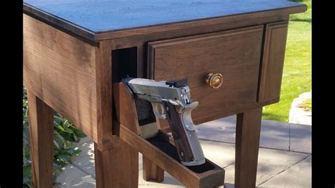 gun end table gun concealment furniture end table with gun and