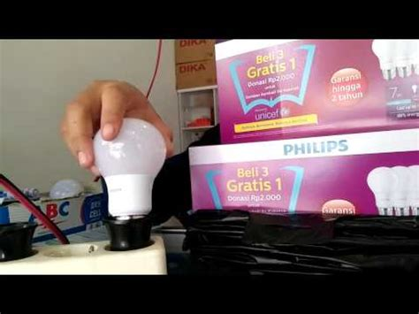 Lu Bohlam Led 7 Watt Philips harga lu led philips 7 watt 06 lu led merk terbaik