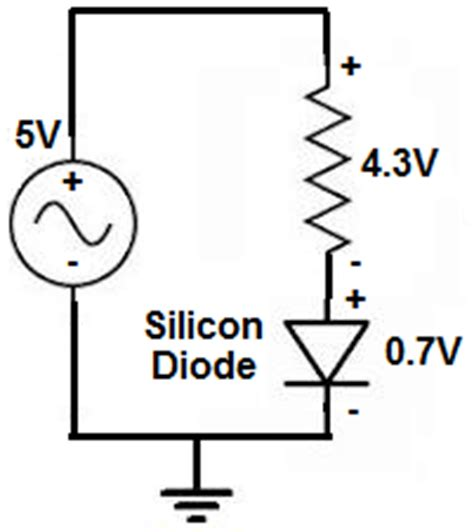 diode to drop voltage what is the voltage drop across a silicon diode