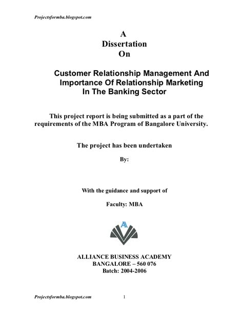 Crm Studies Mba Students by A Dissertation On Customer Relationship Management And