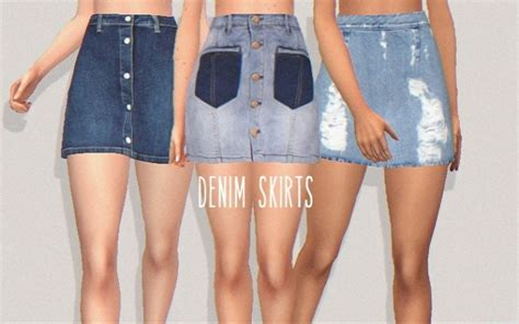 Best Sites For Home Decor denim skirts at puresims 187 sims 4 updates