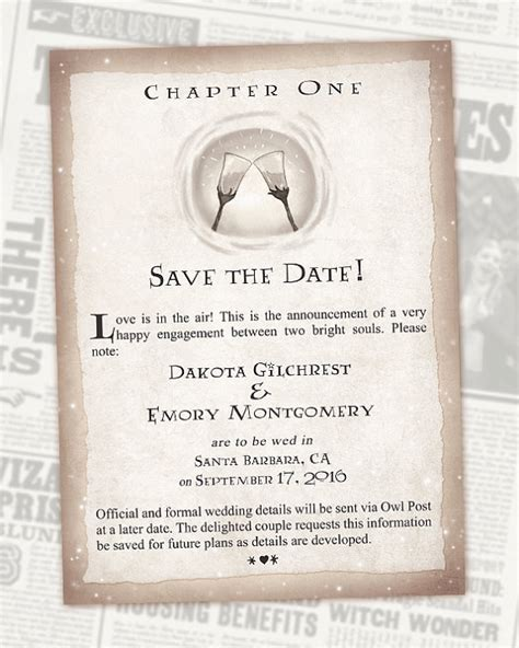 the wedding date books harry potter save the date book wedding chapter invite