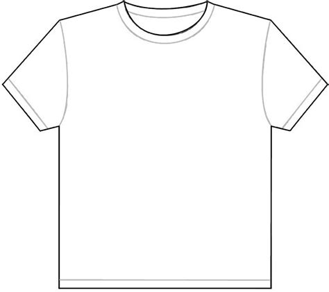 Drawing T Shirt Outline by T Shirt Outline Template Calendar Templates