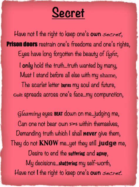 secret poems for secret poem the power of reading