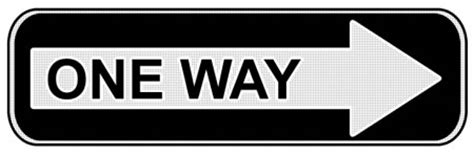 printable one way road sign one way traffic sign psd