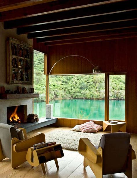 Pete City Living Room Pete Bossley Architects Waterfall Bay House Flodeau