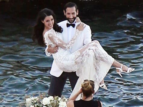 Rebecca Mir Massimo Sinato Hochzeit   hochzeits fotos so sch 246 n war rebecca mir als braut