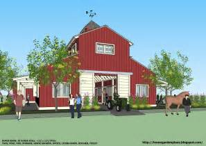 Barn Plans Designs by Home Garden Plans B20h Large Horse Barn For 20 Horse