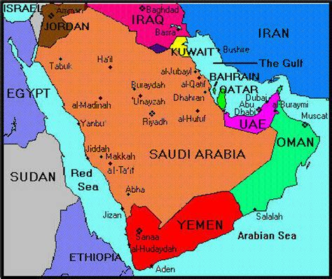 arabian peninsula map photographs and maps