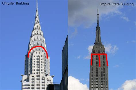 chrysler building and empire state building water droplet formed the empire state building on my back
