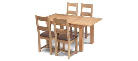 Oak Extending Dining Table And 4 Chairs Constance Oak 125 165 Cm Extending Dining Table And 4