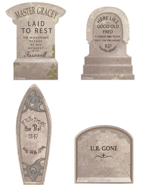 Tomstone Card Template by Haunted Mansion Cupcake Tombstones Disney