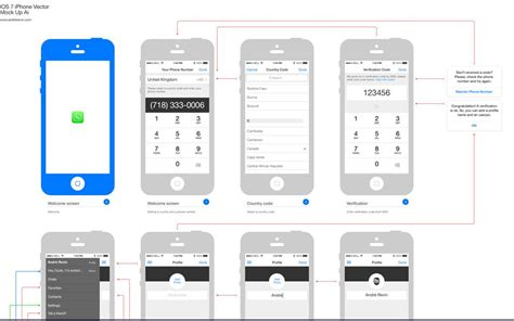 25 Free Outline Mockups For Wireframing Presentation Psd Download Freepsdhtml Ios Wireframe Template