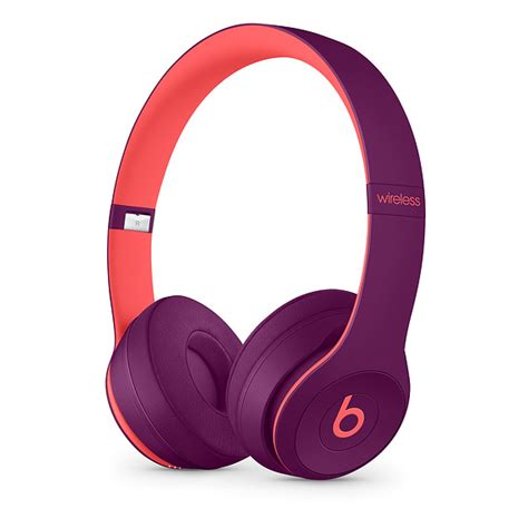 apple headphones colors beats solo3 wireless on ear headphones pop magenta