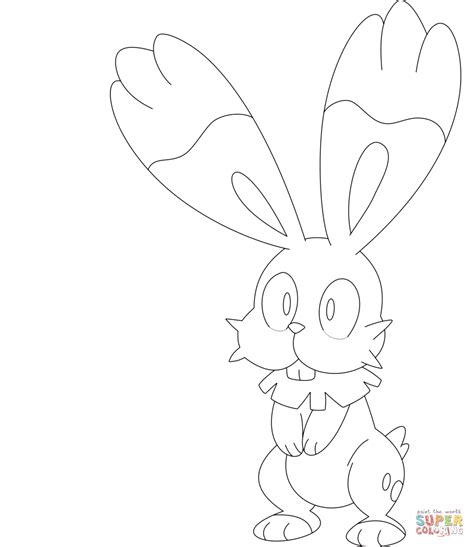 pokemon coloring pages inkay bunnelby coloring page free printable coloring pages